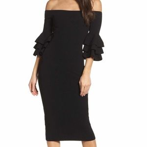 Adelyn Rae off the shoulder bell sleeve dress